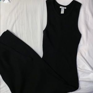 Charlotte Russe Long Black Fitted Dress